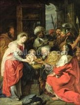 Adoration of the Magi, 1626-29 (oil canvas) wall mural thumbnail