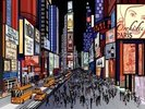 New York - Night View of Times Square wall mural thumbnail