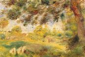 Spring Landscape (oil on canvas) wall mural thumbnail