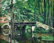 The Bridge at Maincy, or The Bridge at Mennecy, or The Little Bridge, c.1879 (oil on canvas) wallpaper mural thumbnail