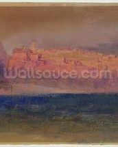 Corsica, (Monaco?) c.1830-35 (w/c on brown paper) wall mural thumbnail
