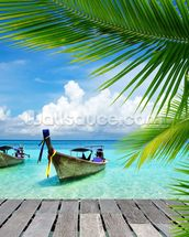 Tropical Sea View wallpaper mural thumbnail