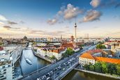 Berlin Afternoon Cityscape mural wallpaper thumbnail