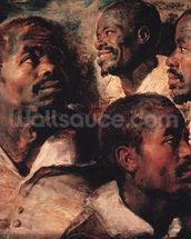 Studies of the Head of a Negro (oil on canvas) mural wallpaper thumbnail
