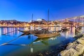 Porto at Night wallpaper mural thumbnail