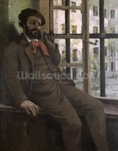 Self Portrait at Sainte-Pelagie, 1871 (oil on canvas) wall mural thumbnail