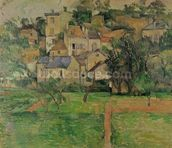The Hermitage at Pontoise, 1884 (oil on canvas) mural wallpaper thumbnail