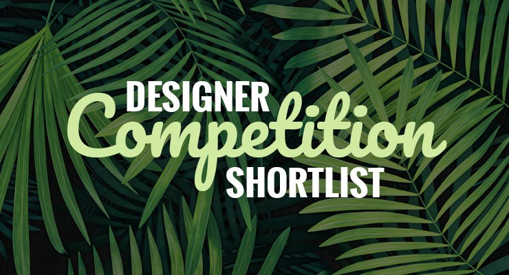 Designer competition shortlist graphic