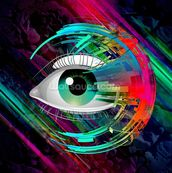 Bright Eye mural wallpaper thumbnail