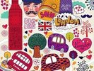 Colourful London wall mural thumbnail