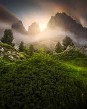 Dolomia Sunset mural wallpaper thumbnail