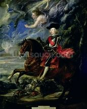 The Cardinal Infante Ferdinand at the Battle of Nordlingen, c.1634 wall mural thumbnail