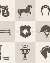 Horse Riding mural wallpaper thumbnail
