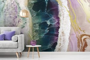 Geode Wallpaper for Sophisticated Décor