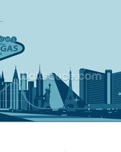 Las Vegas Skyline Abstract wallpaper mural thumbnail