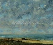 The Sea, c.1872 (oil on canvas) mural wallpaper thumbnail