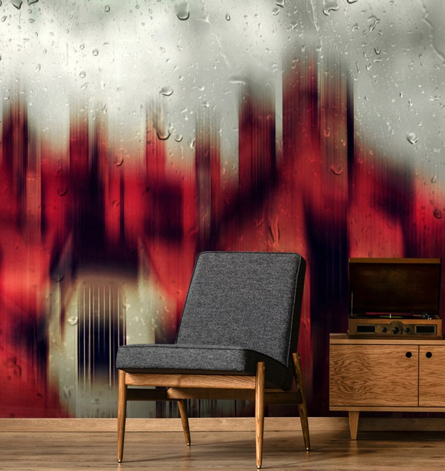 Black and Red Wallpaper: Interior Colour Focus