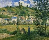 Landscape at Chaponval, 1880 (oil on canvas) wall mural thumbnail