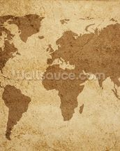 Textured World Map wall mural thumbnail