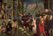 Ecce Homo, 1543 (oil on canvas) wallpaper mural thumbnail