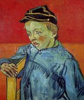 The Schoolboy, 1889-90 (oil on canvas) mural wallpaper thumbnail