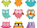 Nursery Owls wall mural thumbnail