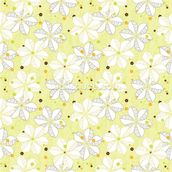 Abstract Floral - Lime mural wallpaper thumbnail