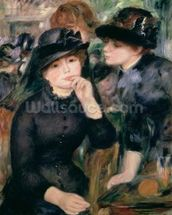 Girls in Black, 1881-82 (oil on canvas) wallpaper mural thumbnail