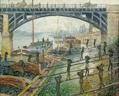 The Coal Workers, 1875 (oil on canvas) wallpaper mural thumbnail
