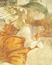 The Annunciation, detail of the Archangel Gabriel, from San Martino della Scala, 1481 (fresco mounted on panel) wall mural thumbnail