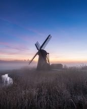 Herringfleet Mill Twilight wall mural thumbnail