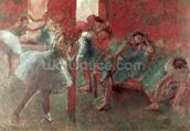 Dancers at Rehearsal, 1895-98 (pastel on paper) wallpaper mural thumbnail