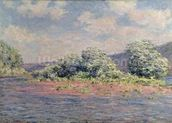 The Seine at Port-Villez, c.1890 (oil on canvas) wall mural thumbnail
