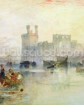 View of Carnarvon Castle (w/c on paper) wall mural thumbnail