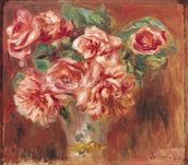 Roses in a Vase, c.1890 (oil on canvas) wall mural thumbnail
