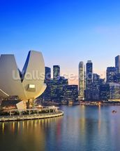 Singapore Skyline mural wallpaper thumbnail