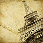 Eiffel Tower Vintage mural wallpaper thumbnail