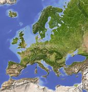 Relief Map of Europe wallpaper mural thumbnail