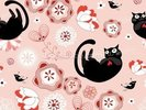 Floral - Cats and Flowers wall mural thumbnail