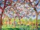 Printemps a Giverny, 1903 (oil on canvas) wall mural thumbnail