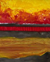 Painting of a Colourful Sunset wall mural thumbnail