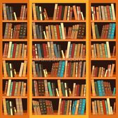 Bookcase - Light wallpaper mural thumbnail