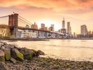 Brooklyn Bridge at Sunset wall mural thumbnail