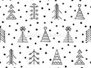 Dotty Christmas wall mural thumbnail