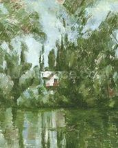 House on the Banks of the Marne, 1889-90 (oil on canvas) wallpaper mural thumbnail