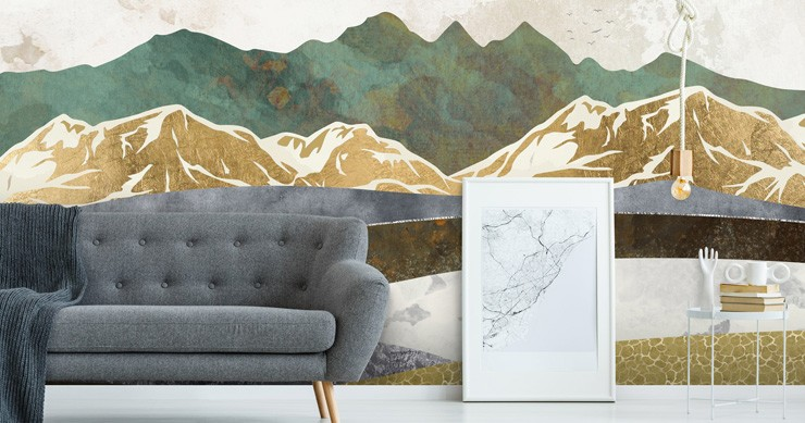 peel-and-stick-wall-murals-in-living-room