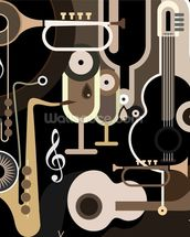 Instruments Abstract wall mural thumbnail