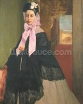 Therese de Gas (1842-95), sister of the artist, later Madame Edmond Morbilli, c.1863 (oil on canvas) wall mural thumbnail