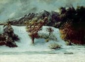 Winter Landscape With The Dents Du Midi, 1876 (oil on canvas) mural wallpaper thumbnail