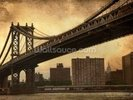 Brooklyn Bridge Sepia wall mural thumbnail